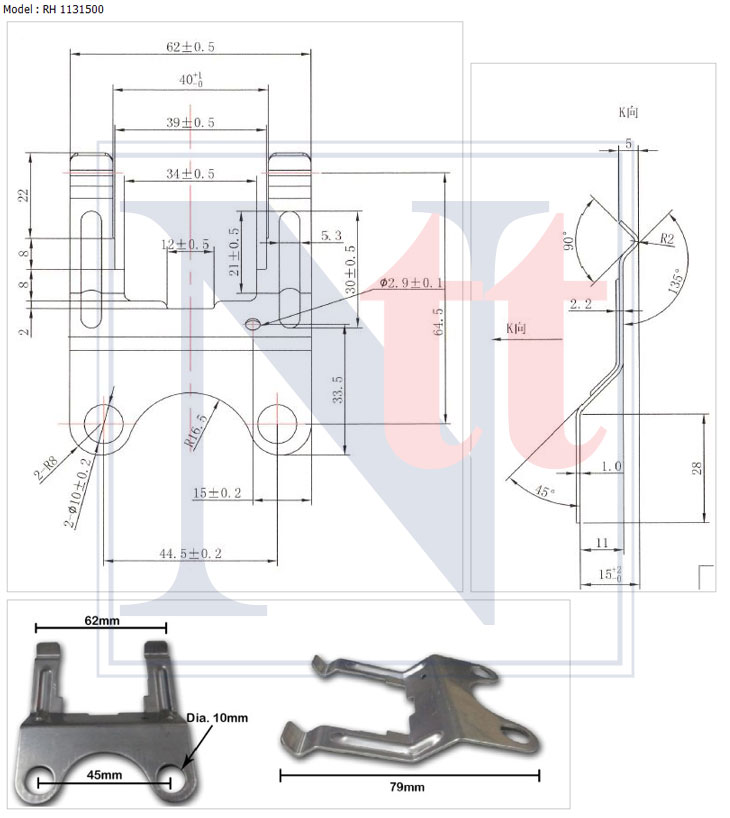 thermostat SUS Bracket