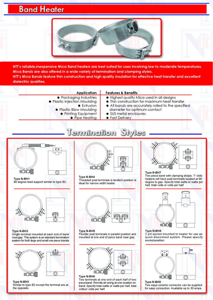 general band saw wiring diagram 18 band heater & strip heater | ntt heating sdn bhd band heater wiring diagram